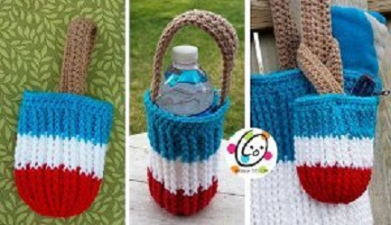 Red White Blue Snack Bag Free Crochet Pattern