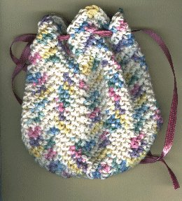 Rippled Cosmetic Bag Free Crochet Pattern