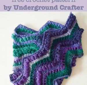 Rippling Peacock Scarf Free Crochet Pattern