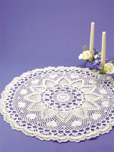 Romantic Pineapples Doily Free Crochet Pattern