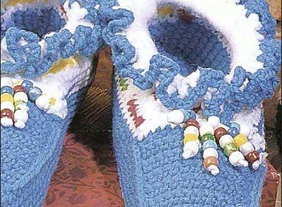 Ruffled Moccasins Free Crochet Pattern