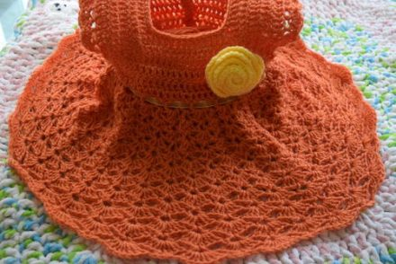 Salmon Pie Baby Dress Free Crochet Pattern