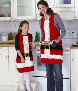 Santa Apron Free Crochet Pattern