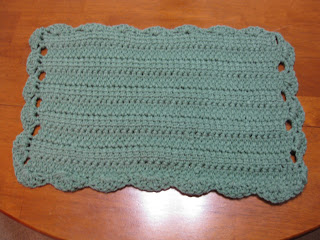 Scallop Edge Placemat Free Crochet Pattern