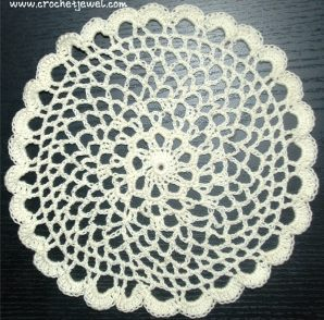 Scalloped Doily Free Crochet Pattern