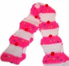 Scarf Sweet Cupcakes Free Crochet Pattern