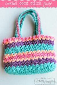 Seed Stitch Summer Purse Free Crochet Pattern