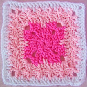 Shades of Pink Square Free Crochet Pattern