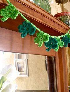 Shamrock Garland Free Crochet Pattern