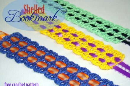 Shelled Bookmark Free Crochet Pattern