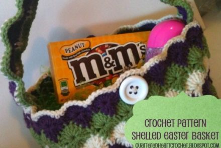 Shelled Easter Basket Free Crochet Pattern