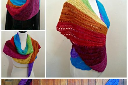 Skylark in Wonderland Shawl Free Crochet Pattern
