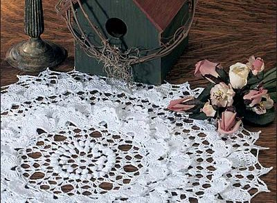 Snow Wreath Doily Free Crochet Pattern