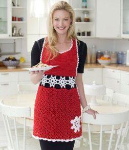 Snowflake Apron Free Crochet Pattern