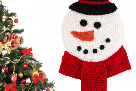 Snowman Wall Hanging Free Crochet Pattern