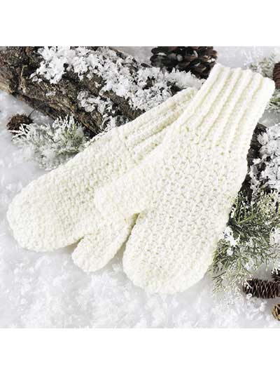 Soft 'n Warm Mittens Free Crochet Pattern