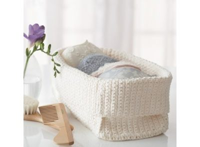 Spa Basket Free Crochet Pattern