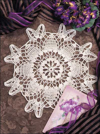 Spinning Wheel Doily Free Crochet Pattern