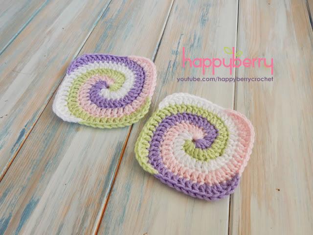 Spiral Granny Square Free Crochet Pattern