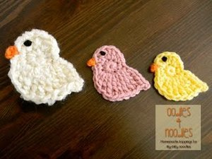 Spring Chick Applique Free Crochet Pattern