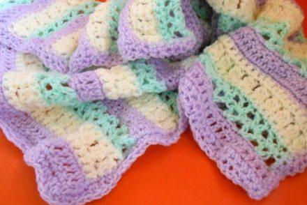 Springtime Sherbert Baby Blanket Free Crochet Pattern