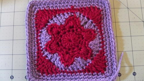 Star of David Granny Square Free Crochet Pattern