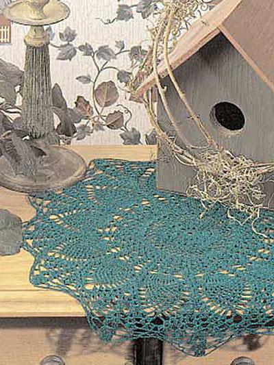 Starburst Pineapple Doily Free Crochet Pattern