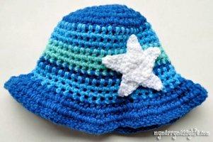 Starfish Sun Hat Free Crochet Pattern