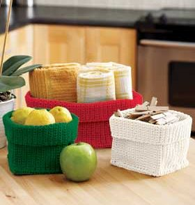 Stash Baskets Free Crochet Pattern