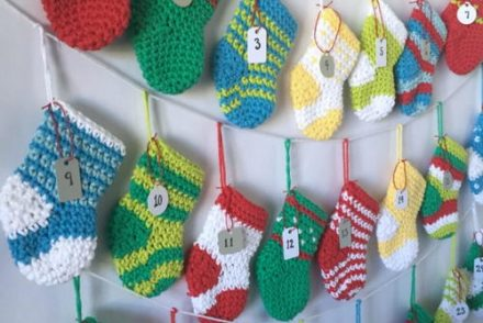 Stocking Advent Calendar Free Crochet Pattern