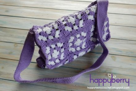 Stylish Granny Square Bag Free Crochet Pattern