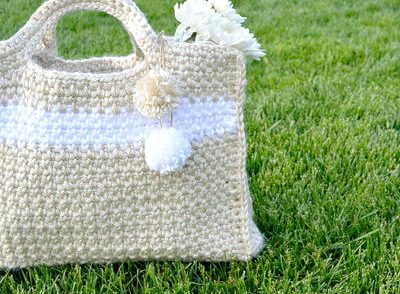 Summer Stripe Bag Free Crochet Pattern