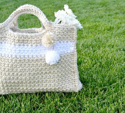 Summer Stripe Bag Free Crochet Pattern