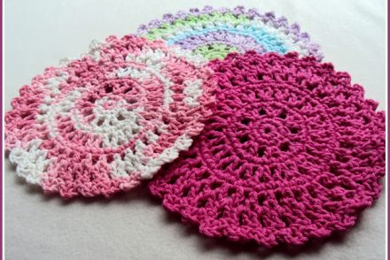 Sun Catcher Dishcloth Free Crochet Pattern
