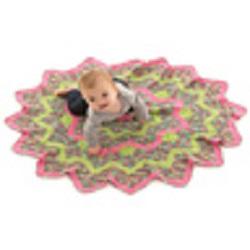 Sunburst Baby Blanket Free Crochet Pattern