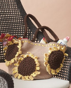 Sunflower Beach Bag Free Crochet Pattern