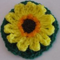 Sunflower Circle Free Crochet Pattern
