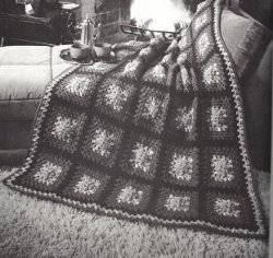 Sunflower Granny Afghan Free Crochet Pattern