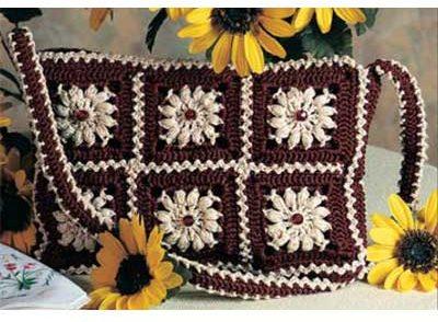 Sunflower Motif Purse Free Crochet Pattern
