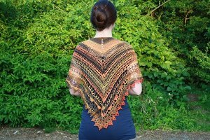 Sunset Shawl Free Crochet Pattern