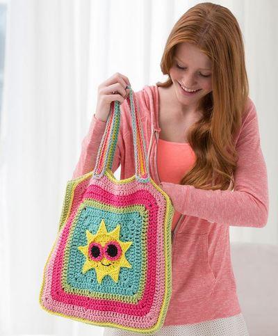 Sunshine Bag Free Crochet Pattern