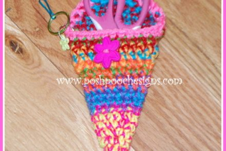 Super Crafty Scissors Case Free Crochet Pattern