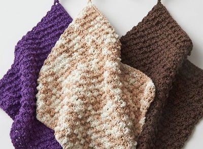 Super Speedy Textured Dishcloth Free Crochet Pattern