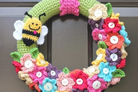 Super Springy Wreath Free Crochet Pattern