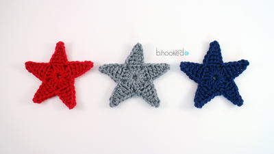 Super Star Applique Free Crochet Pattern