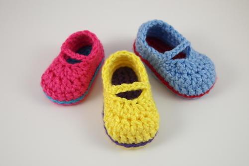 Sweet Baby Mary Janes Free Crochet Pattern