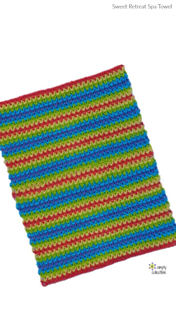 Sweet Retreat Spa Towel Free Crochet Pattern