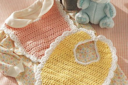 Sweet as Candy Baby Bib Free Crochet Pattern
