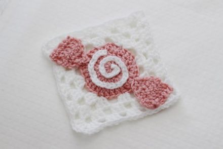 Sweet as Candy Granny Square Free Crochet Pattern