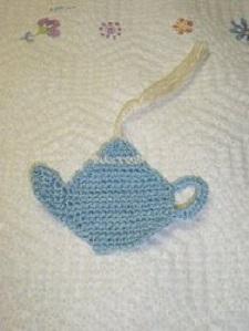 Teapot Bookmark Free Crochet Pattern
